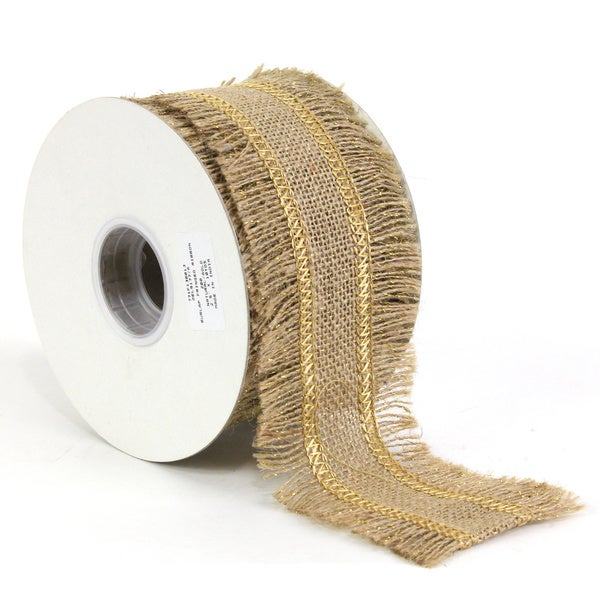 Sage & Co 10-yard Burlap Fringed Ribbon (Pack of 6)