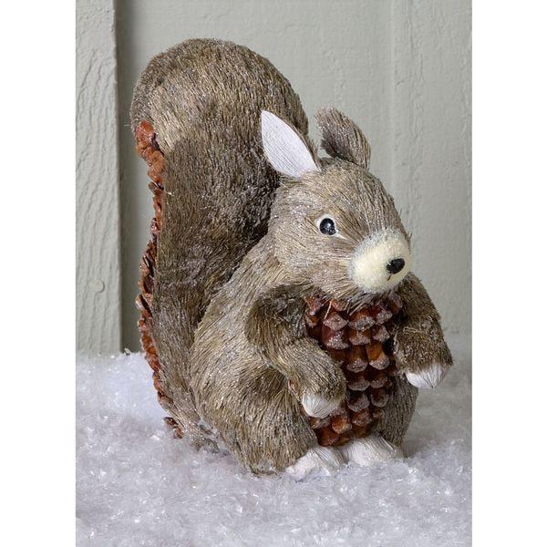 Large Sisal Squirrel Sculpture