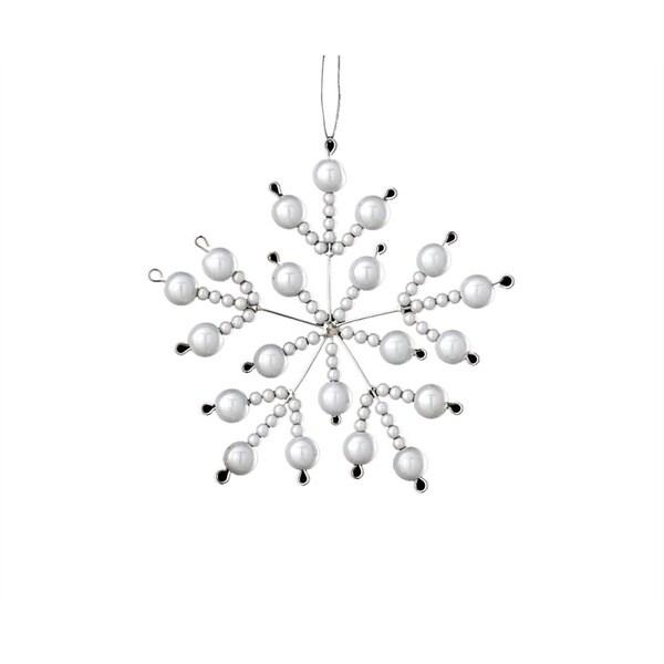 Iridescent Bead Glass Snowflake Ornament