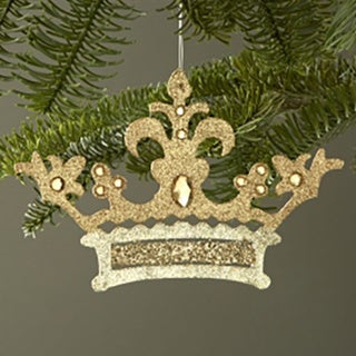Glittered Crown 55-inch Ornament