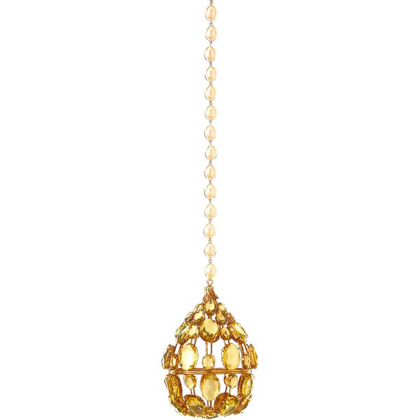 Jewel Medallion Drop Ornament 6.25-inch
