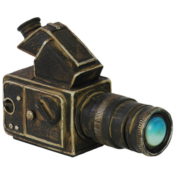Black Resin Vintage Video Camera Replica