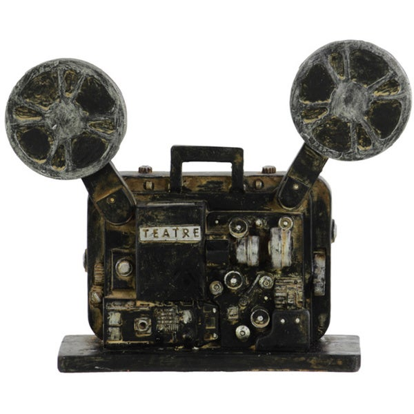 Classic Black Resin Cinema Film Projector