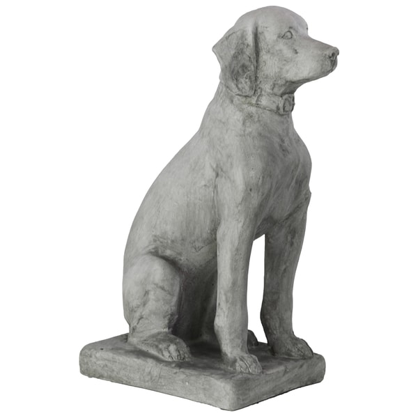 Light Grey Fiberstone Sitting Labrador Dog