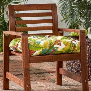 Palm Leaf Print 20-inch Outdoor Chair Cushion