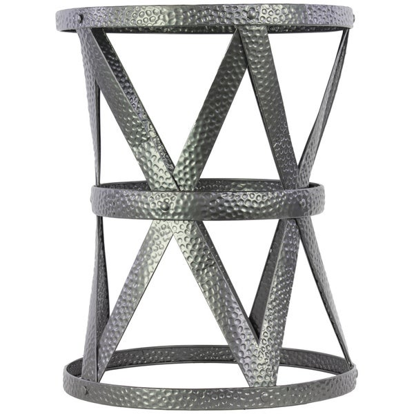 Compass Gunmetal Grey Metal Stool