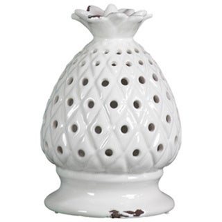 Gloss White Ceramic Pineapple