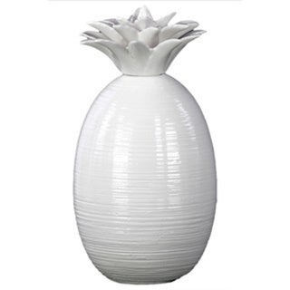 White Ceramic Pineapple