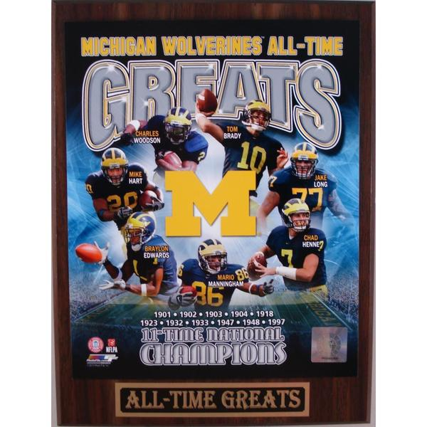 Michigan Wolverines All Time Greats Plaque