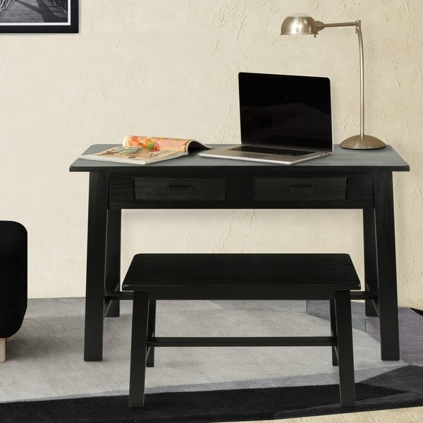 Rustic Desk And Bench 16871648 Overstock Com Shopping