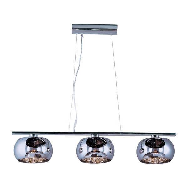 Sense Linear Chrome 3-Light Pendant