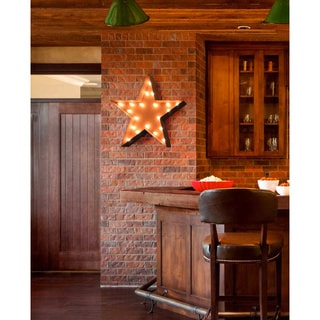 "25.5"" Rusted Steel, Commercial Grade, Star Marquee Light"