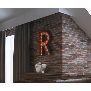 Letter R Rusted Finish Iconic Marquee Sign