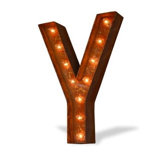 Letter Y Rust-finish Iconic Marquee Sign