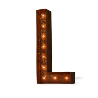 Letter L Rusted Finish Iconic Marquee Sign