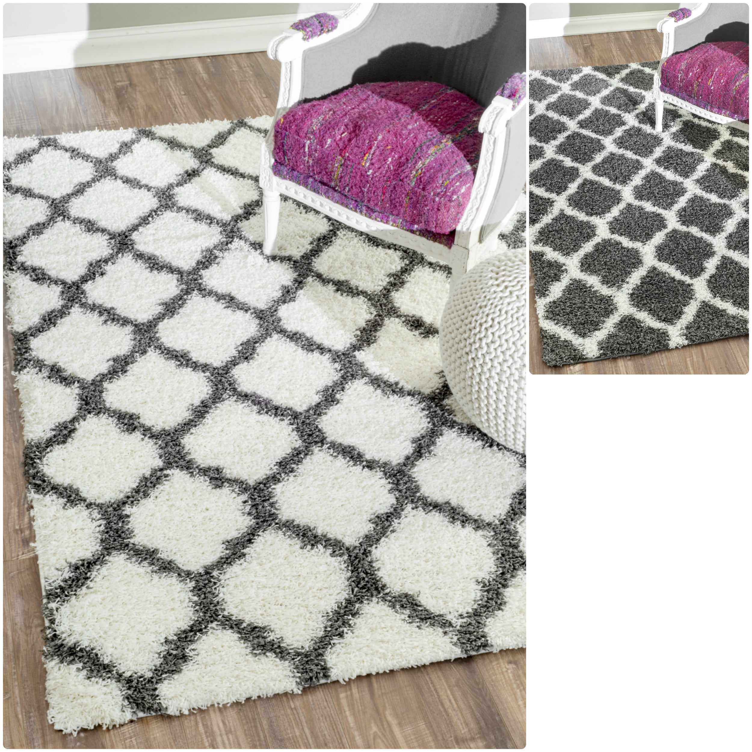 nuLOOM Alexa My Soft and Plush Modern Trellis Shag Rug (5'3 x 7'6) at Sears.com