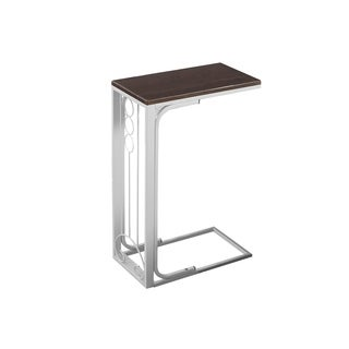 Metal Cherry/ White Tray Accent Table
