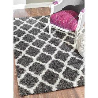 nuLOOM Alexa My Soft and Plush Modern Trellis Shag Rug (8' x 10')