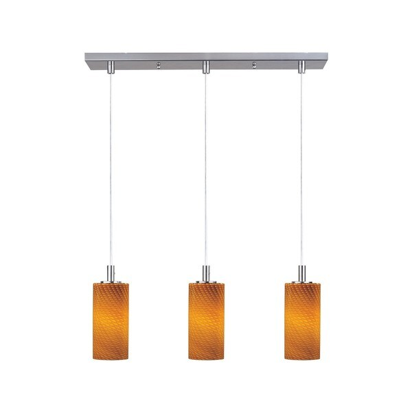 Carte LED Linear Nickel 3-Light Pendant