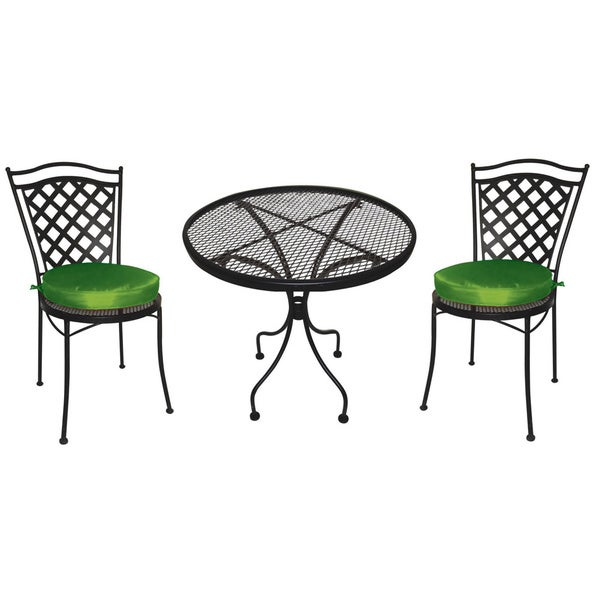 wrought iron 3 pc patio furniture set bistro set chairs dining set