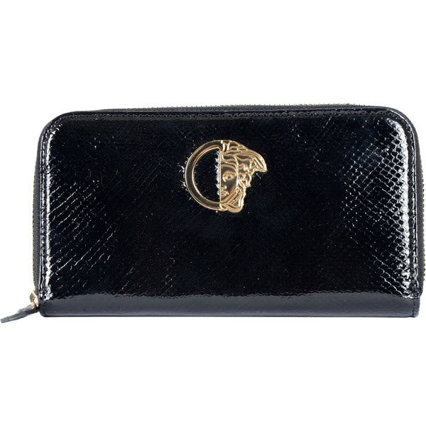 Versace Snake-embossed Leather Wallet