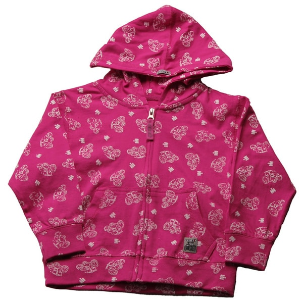 Case IH Toddler Girls Magenta Printed Jersey-knit Hoodie