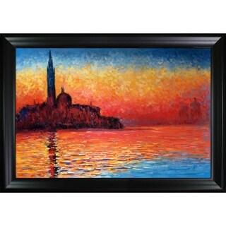 Claude Monet San Giorgio Maggiore Hand-painted Framed Canvas Art