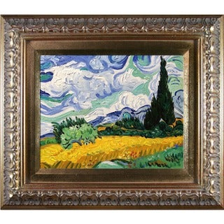 Vincent Van Gogh Wheat Field Hand-painted Framed Canvas Art