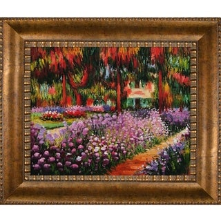Claude Monet Artist's Garden at Giverny Hand-painted Framed Canvas Art