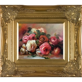 Pierre-Auguste Renoir Discarded Roses Hand-painted Framed Canvas Art