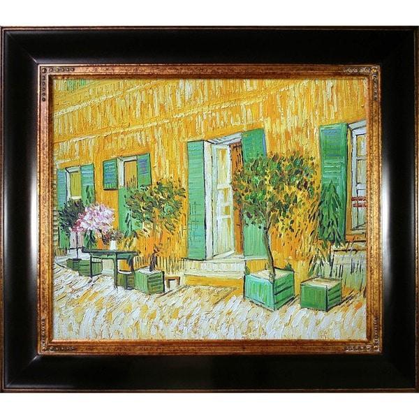 Vincent Van Gogh Exterior of a Restaurant at Asnieres Hand-painted Framed Canvas Art