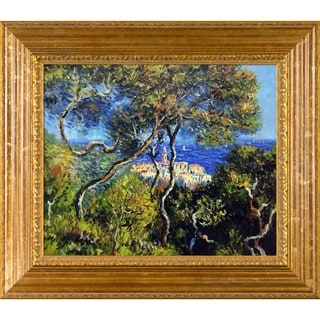 Claude Monet Bordighera Hand-painted Framed Canvas Art