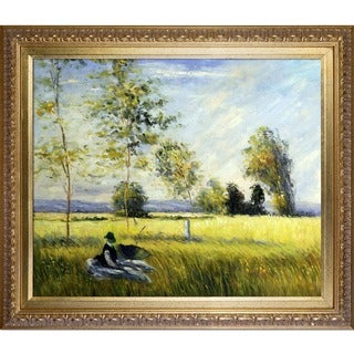 Claude Monet Summer Hand-painted Framed Canvas Art