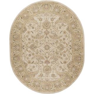 Hand-tufted Tiana Traditional Wool Rug (8' x 10' Oval)