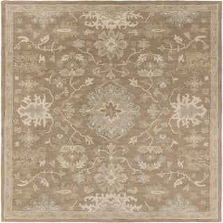 Hand-tufted Nolan Traditional Wool Rug (4' Square)