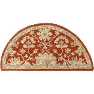 Hand-tufted Nolan Traditional Wool Rug (2' x 4' Hearth)