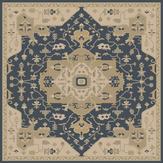 Hand-tufted Misty Traditional Wool Rug (6' Square)