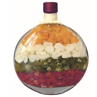 Marmo 9-inch Decorative Chili/ Garlic Infused Vinegar Bottle