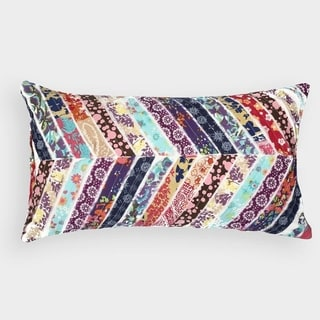 Multi-color Patchwork Cotton Throw Pillow