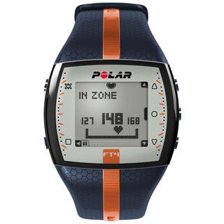 Polar FT4 Blue/ Orange Heart Rate Monitor Watch