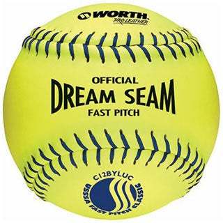 Worth 12-inch Pro Leather USSSA PRIDE Softball (Set of 12)