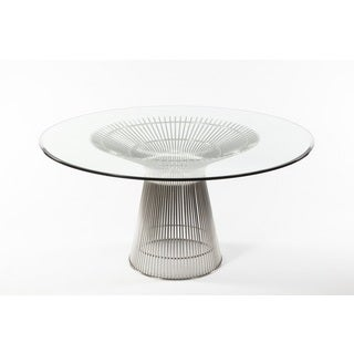 Fishburne Stainless Steel/ Glass Dining Table