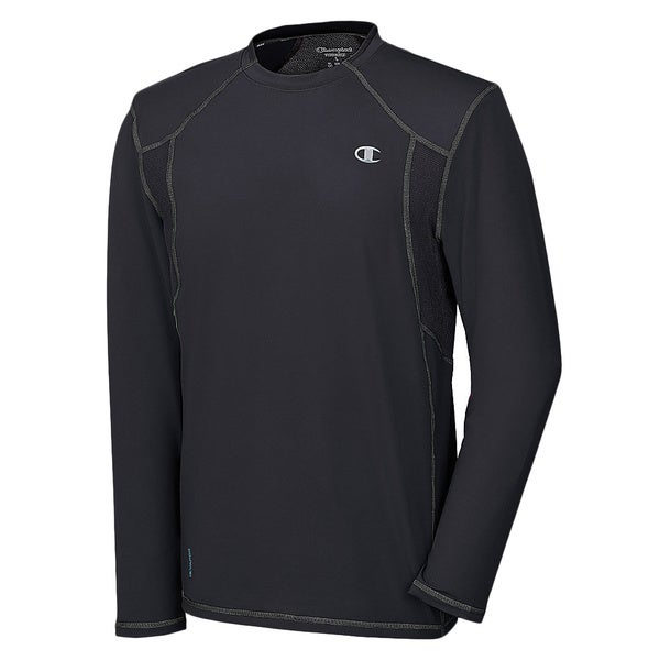 Men's Champion Powerflex Degree Long Sleeve Tee Black