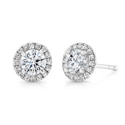 2ct TDW Round Halo Diamond Stud Earrings (F-G, I1)