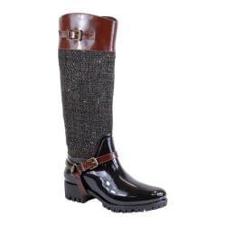 Women's Reneeze Rain-03 Glossy Woven Rain Boot Brown PU