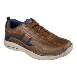 Men's Skechers Relaxed Fit Glides Corsen Bicycle Toe Shoe Coffee