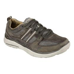 Men's Skechers Relaxed Fit Glides Soman Lace Up Charcoal