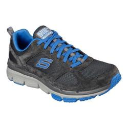 Men's Skechers Relaxed Fit Optimizer Lace Up Charcoal/Blue