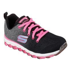 Girls' Skechers Skech-Air Ultra Glitterbeam Sneaker Black/Neon Pink