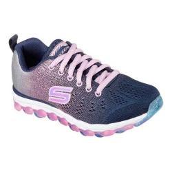 Girls' Skechers Skech-Air Ultra Glitterbeam Sneaker Navy/Pink